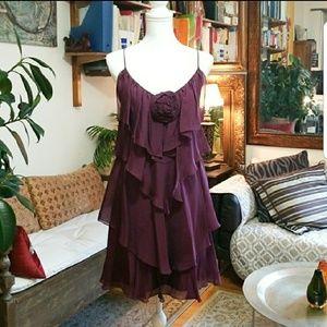 🌹 Rebacca Taylor flirty layered cocktail dress